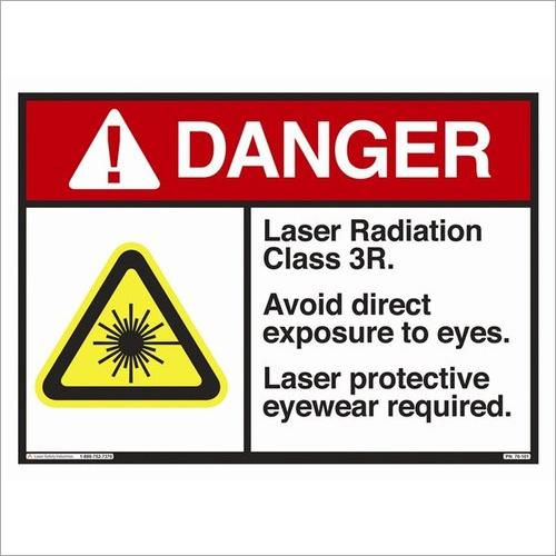 Multicolor Polycarbonate Safety Sticker