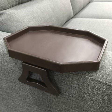 Wooden Couch Arm Tray Folding Table Octagon Shape