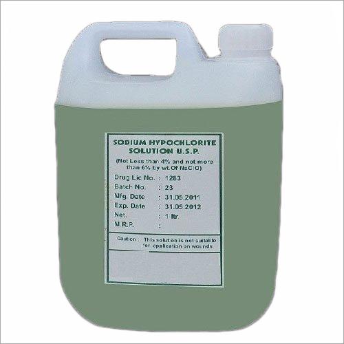 B.P Grade Strong Sodium Hypochlorite Solution