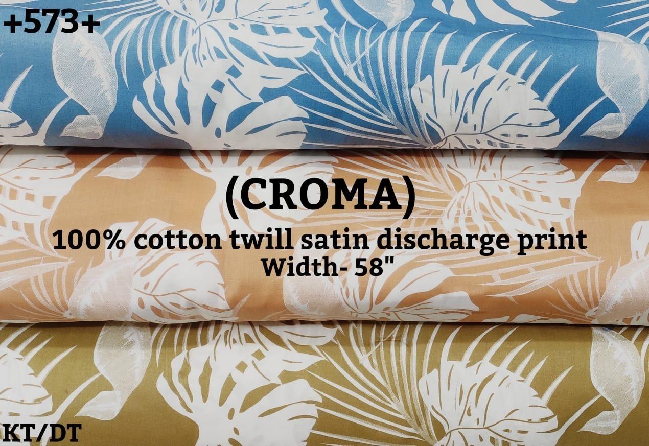 Croma 100% Cotton Twill Satin Discharge Print