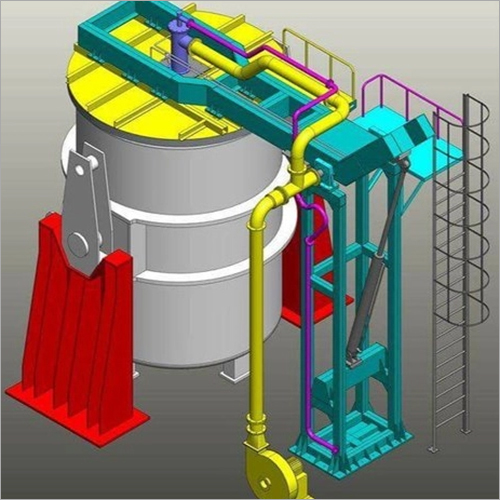 Horizontal Preheating Station For Steel Casting Ladle