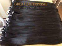 Straight weft hair