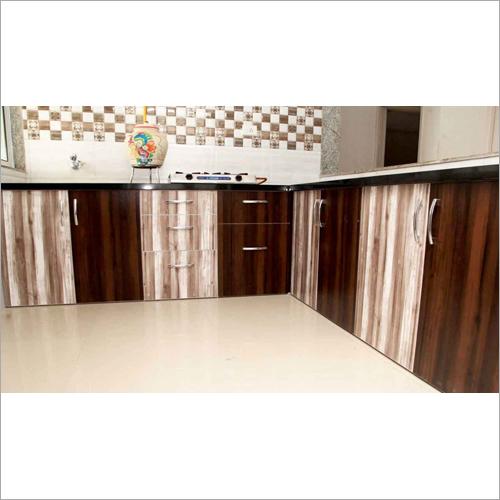 L Shape UPVC Modular Kitchen