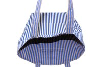 Reversible Handle With One Color Overall Print Design Reversible Jute Cotton Tote Bag