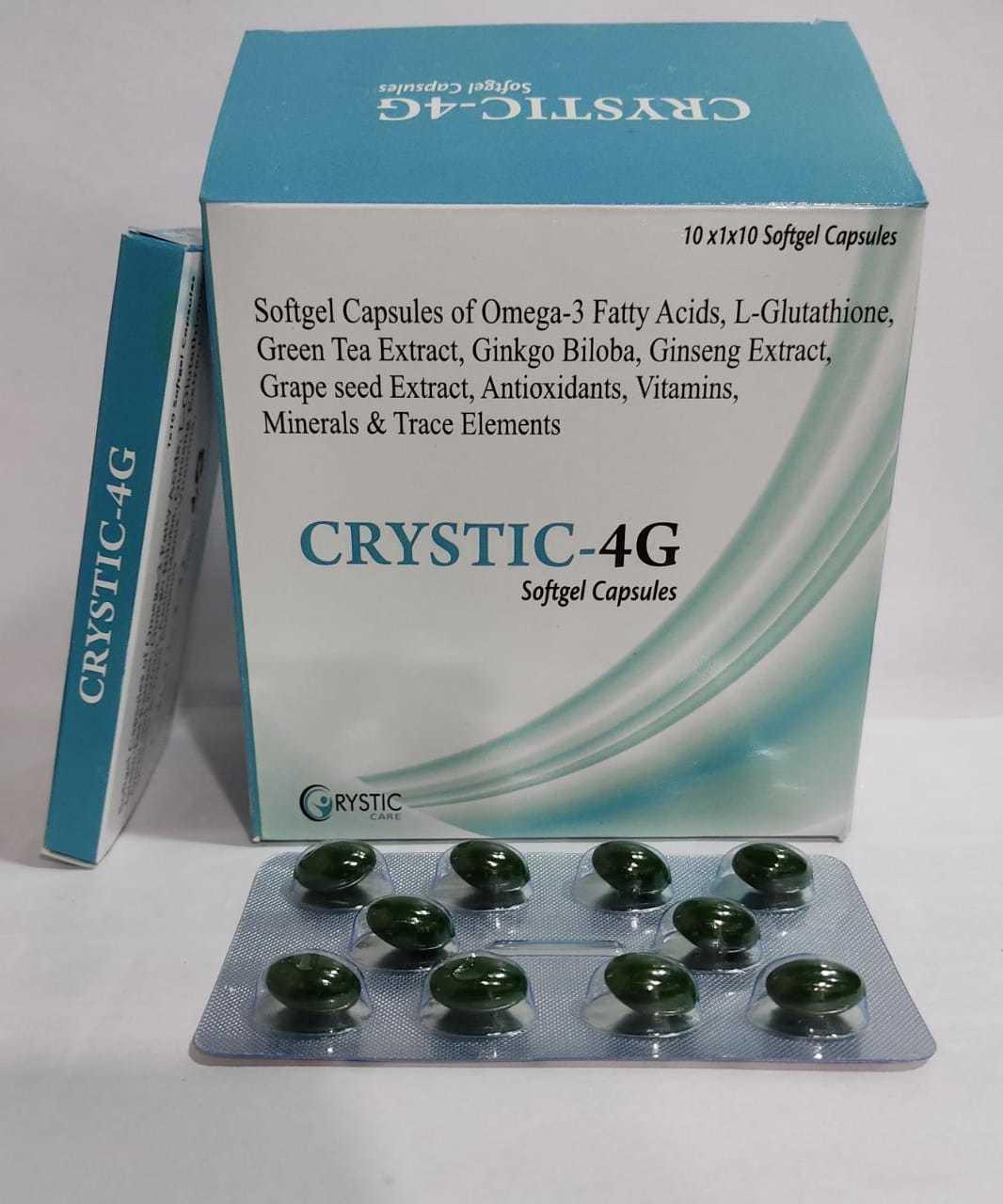 Omega-3 Fatty Acid Green Tea Extract Ginkgo Biloba Ginseng  Grape Seed Extract Vitamins Minerals Trace Elements Softgel Casules