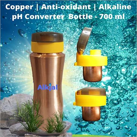 700 ML Copper Anti Oxidant Alkaline Ph Converter Bottle