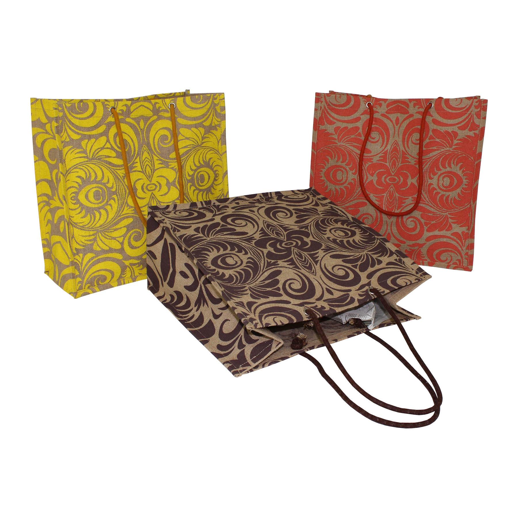 Rope Handle Jute Shopping Bag