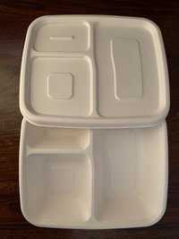 Biodegradable 3CP Meal Tray With Lid
