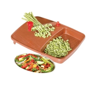 Thick Plastic Kitchen Chopping Cutting Slicing Tray with Holder
