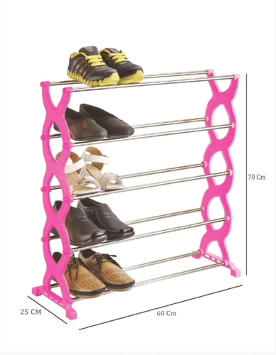 Stackable 5 Layer Folding Shoe Rack