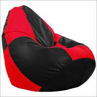 Red Black Checks Bean Bag