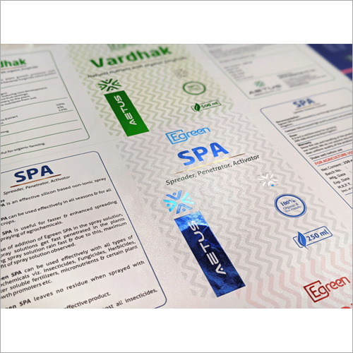 Agricultural  Products Packaging Metallic Label