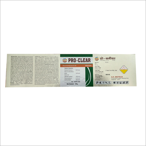 Printed Pesticides Labels