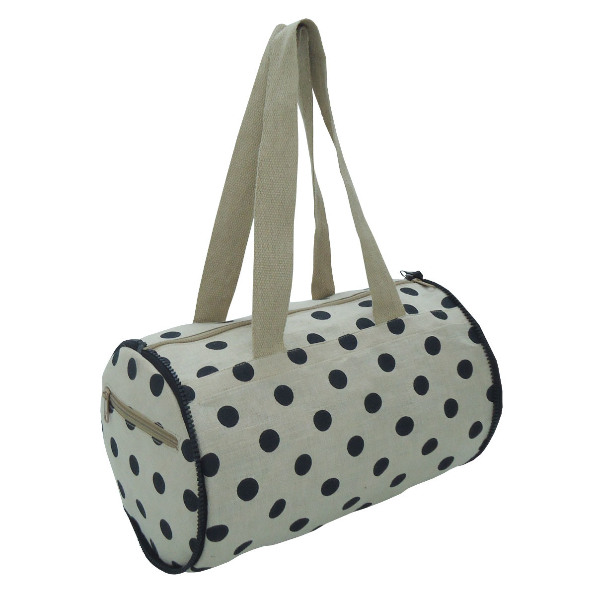 Easy To Carry Natural Juco Folding Duffle Tote Bag Cum Hand Purse