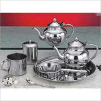 Stainless Steel 7 Pcs Arabian Tea Set