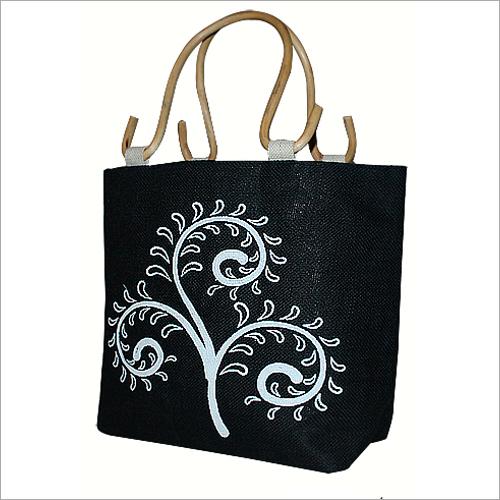 Black Jute Hand Bag