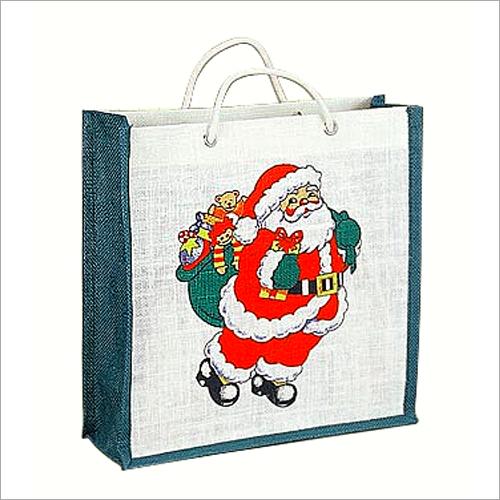 Jute Printed Christmas Bags