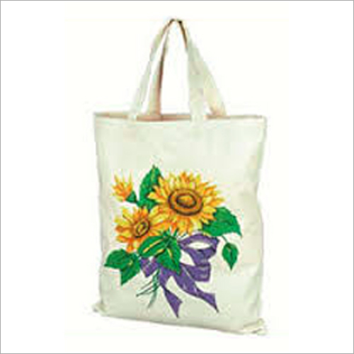 Flower Printed Cotton Bags