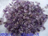 Amethyst high polished Granule quartz crystal polished chips & grabels