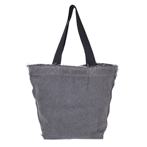 12 - 14 Oz Washed Denim Tote Bag With Web Handle
