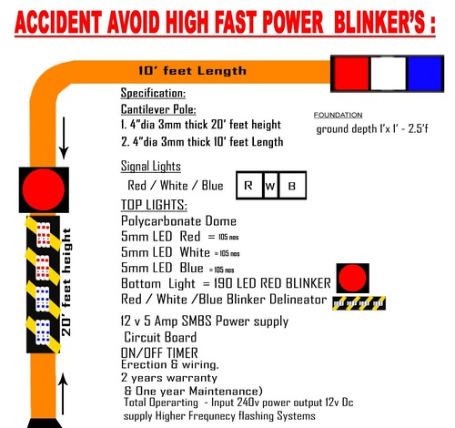 ACCIDENT AVOID HIGH FAST POWER BLINKERS