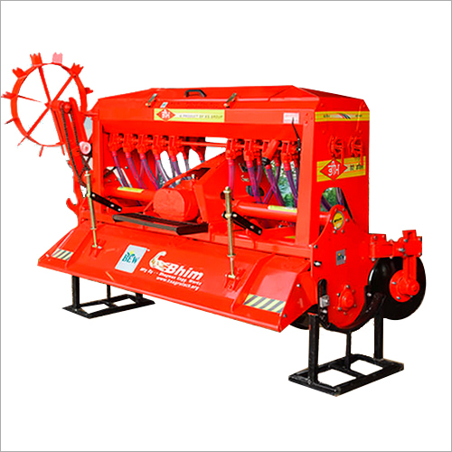 KS Agriculture Roto Seed Drill Machine