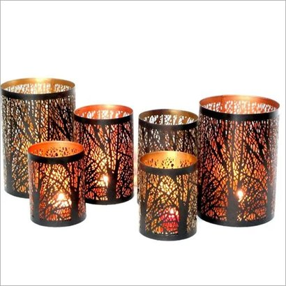 Artificial Decorative Metal Candle Holder