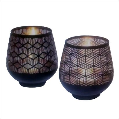 Artificial Glass Candle Holder