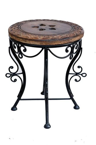 Handmade Iron Stool (Queen Size Coffee Table & Stool for Kids