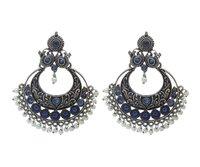 Chandbali Oxidised Earrings