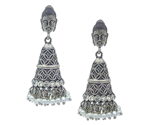 Jhumka Oxidised Earrings