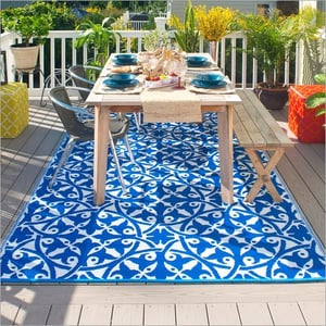 Blue And White Outdoor Rugs