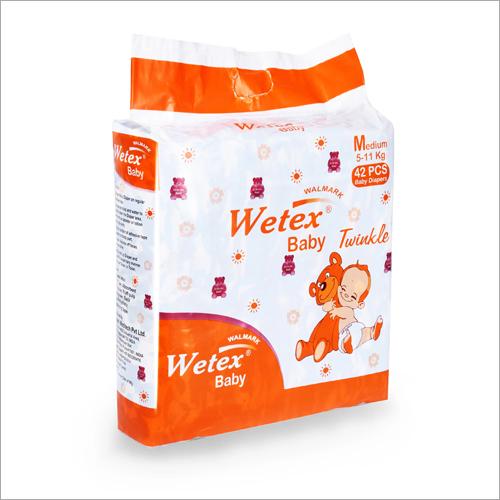 Cotton 42 Pcs Wetex Medium Jumbo Baby Diapers