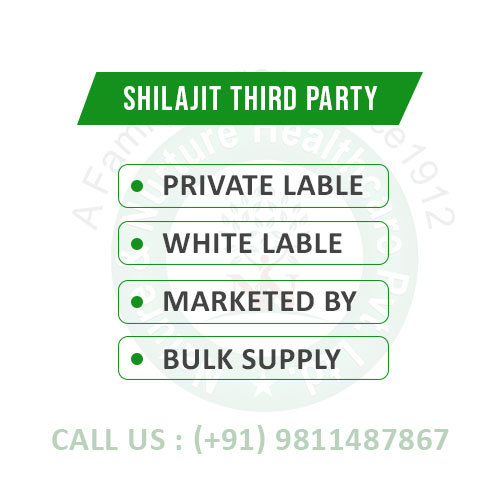 Shilajit Third Party (Private Lable, White Lable, Marketed By)