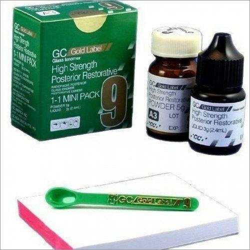 GC Gold Label 9 Extra 1-1 Pkg (Glass Ionomer Cement Regular Pack 5gm , 3 gm)