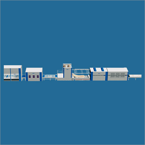 Industrial Thermo Forming Line With Integrated Cleaning and Glue Spraying Line
