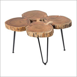 Live edge 4 round Log Coffee Table