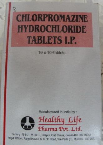 Chlorpromazine Hydrochloride Tablets Ip 25 Mg