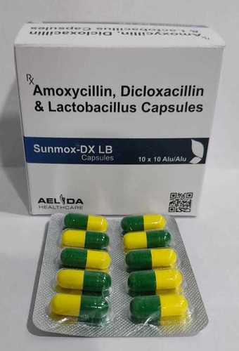 Amoxycillin, Dicloxacillin & Lactobacillus Capsules