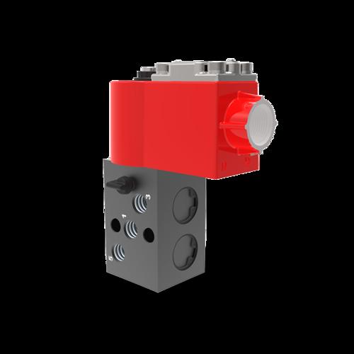 5/2 Internal Pilot Operated Single Solenoid Poppet Namur Valve With FLP Coil