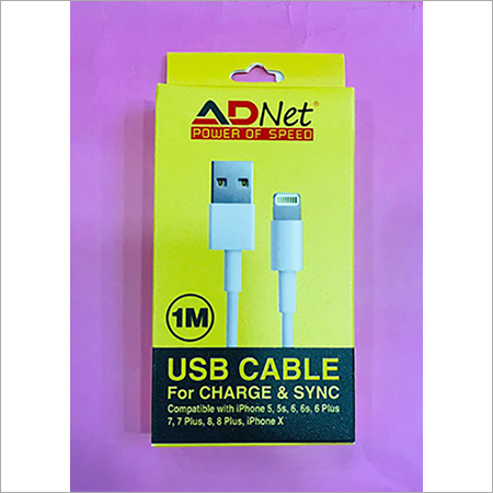 ADNET HIGH SPEED IPHONE CHARGING AND DATA TRANSFER  CABLE 3.4 AMP 1 MTR