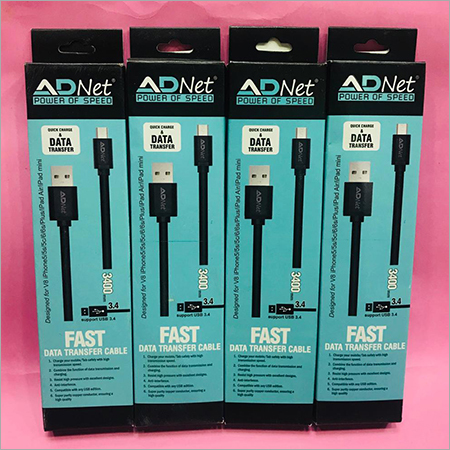 ADNET USB TO MICRO 2.4 AMP CABLE  1 MTR