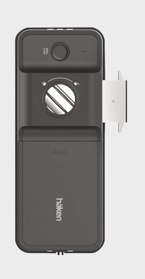 Haken Hdl-R51 Graphite Grey 4 Way Rim Lock