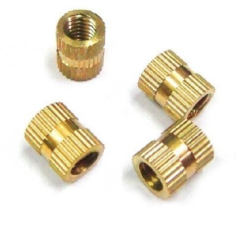 straight knurl brass inserts