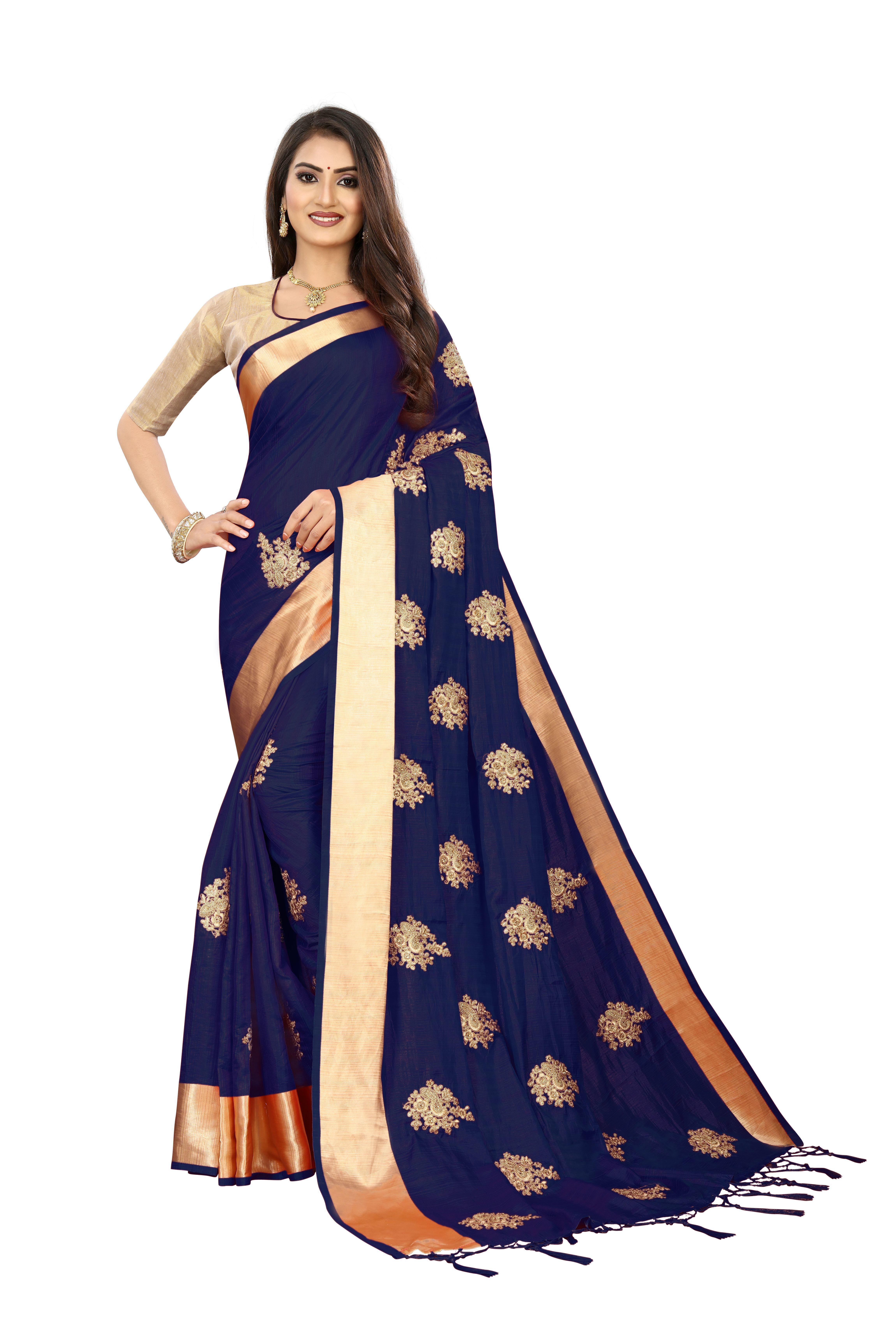Silk Embroidery Saree