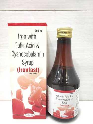 Ferric Ammonium Citrate I.P 160 eq. to Elemental Iron 32.8 + Cyanocobalamin IP 7.5 MCG + Folic Acid 0.5  PACKING :