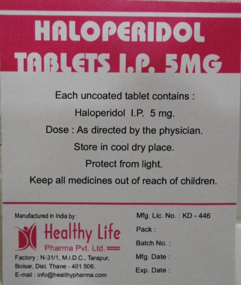 H Peridol-2 Haloperidol Tablets Bp 2 Mg