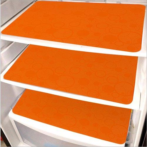 Orange Plain Pp Fridge Mats