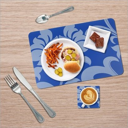 Washable Waterproof Printed Table Mats With Coaster