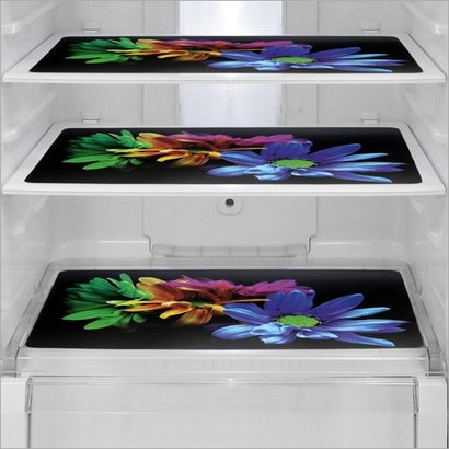 Available In Different Color Floral Print Refrigerator Mats